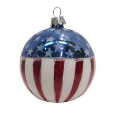Nautical and Patriotic Ornaments Christmas Bulbs, Christmas Decorations, Xmas, Painted Ornaments, Patriotic Crafts, Ball Ornaments, Glass Ball, Ceramic Painting, Winter Holidays