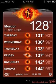 It's a Nice Day in Mordor
