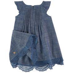 Catimini - Льняное платье с помпонами - 161753