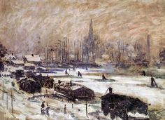 Claude Monet - Amsterdam in the Snow, 1874