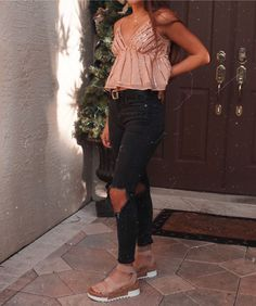 129 cute summer outfits for women and teen girls - Winter Outfits Boho Outfits, Fall Outfits, Fashion Outfits, Cute Summer Outfits, Cute Casual Outfits, Classic Outfits, Casual Dresses, College Outfits, Outfits For Teens