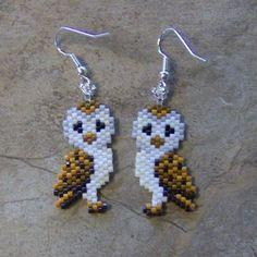 Afbeeldingsresultaat voor peyote stitch earrings