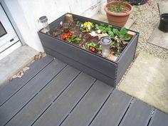 photo construction jardiniere lame terrasse composite blooma castorama