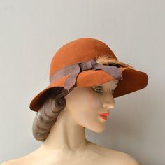 Derryann hat • vintage 1970s hat • brimmed 70s hat