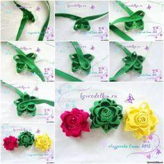 zipper rose brooch f