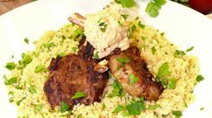 Try something different The Biggest Loser Moroccan Lamb Cutlets with Hummus and Couscous
