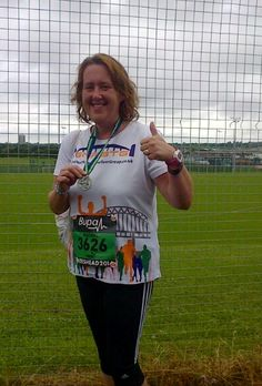 Rach completed 3 races for Mind this year; the Sunderland 10K, Great North 10K and the Great North Run!