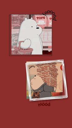 Wallpaper Animes, Cartoon Wallpaper Iphone, Red Wallpaper, Disney Wallpaper, Cute Wallpaper Backgrounds, We Bare Bears Wallpapers, Panda Wallpapers, Cute Cartoon Wallpapers, Cute Panda Wallpaper