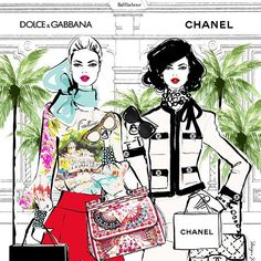 Megan Hess ~ Dolce & Gabbana and Chanel