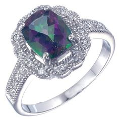Sterling Silver Mystic Topaz Ring 220 CT In Size 6 -- You can find out more details at the link of the image.Note:It is affiliate link to Amazon.