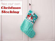 DIY Christmas Stocking : DIY Sew a Christmas Stocking