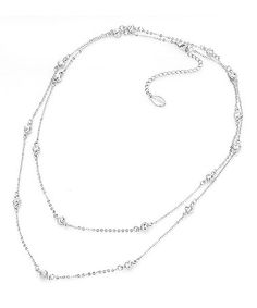 Love this Crystal & Silver Necklace Made With SWAROVSKI ELEMENTS by MESTIGE on #zulily! #zulilyfinds