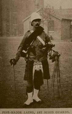 Boer War, Pipe Major Laing 1st Scots Guards(1900)