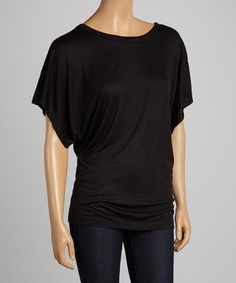 Black Dolman Top #zulily #zulilyfinds