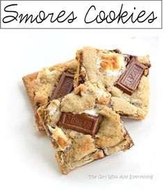 Smores cookies!!! Yummy fun way to have a favorite camping dessert at home :)