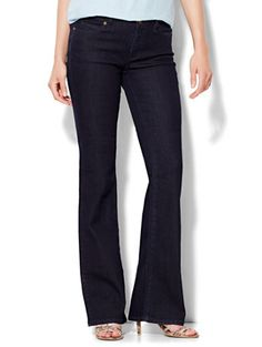 Soho Jeans Curvy Bootcut - Dark Midnight Wash | New York & Company.