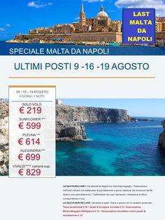 JLAND TRAVEL: LAST MALTA AGOSTO DA NAPOLI DA € 219!!!