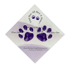 Purple Paw Wear One Share One Pins - Purple Paw Pin Set of 2 - Helps the ASPCA #AnimaRescue