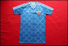 Vintage '88 Adidas DDR East-Germany jersey.