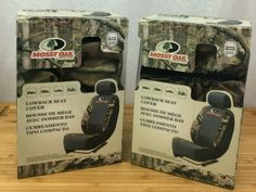 NEW Pair 2 Mossy Oak Low Back Camo Seat Covers 2 Seat Cover Set Brand New Fresh