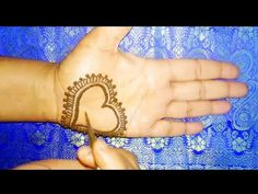 This is a very attractive heart shape mehndi design. you can apply this design on any festival like Valentine's day, L. Henna Designs, Valentine Day Special, Valentines Day, Mehandi Design For Hand, Alphabet Tattoo Designs, Henna Art, Mehndi, Simple Designs, Heart Shapes