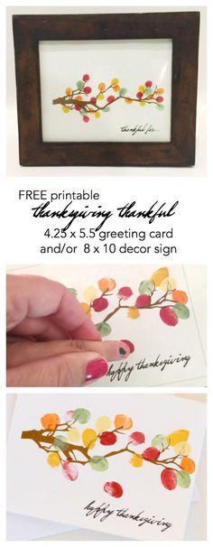 Diy Thanksgiving Decor And Or Card Thanksgiving Create Your Own Thanksgiving Decor With This Free Thanksgiving Printable Tree With Fingerprint Leaves Print Out This Thanksgiving Card To Send To Friends The Idea Room Free Thanksgiving Printables, Thanksgiving Crafts For Kids, Thanksgiving Parties, Thanksgiving Activities, Holiday Crafts, Holiday Fun, Friends Thanksgiving, Thanksgiving Prints, Thanksgiving Greeting