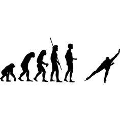 Evolution Eisschnelllauf - F�r alle Liebhaber der schnellen Kufen, ein Eisschnelllauf am ende der menschlichen Evolution auf der Strecke.