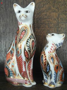 Siamese Cat & Kitten Royal Crown Derby Paperweights Sold £125