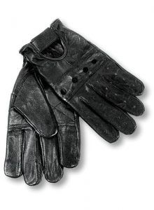 22695120dbe5d Interstate Leather Men's Basic Driving Gloves (Black, Medium) Elastic wrist  Unlined Knuckle holes Hook and loop cuffs Sizes Small to XX-Large