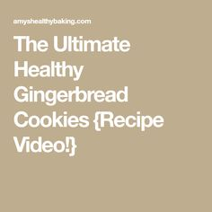 The Ultimate Healthy Gingerbread Cookies {Recipe Video! Healthy Gingerbread Cookies, Vegan Gingerbread, Ginger Bread Cookies Recipe, Cookie Recipes, Silicone Baking Mat, Thing 1, Cut Out Cookies, Slow Cooker Chicken, Stevia