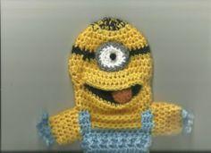 Minion Like Children's Puppet Cute Comical One Eye Blue Yellow Black | eBay