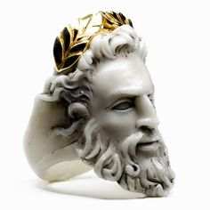 material:marble, sterling silver (925), plated gold (24 K)weight:15gcolour options:Zeusring is a part of Olympus inspired collection by Macabre Gadgets.Uni