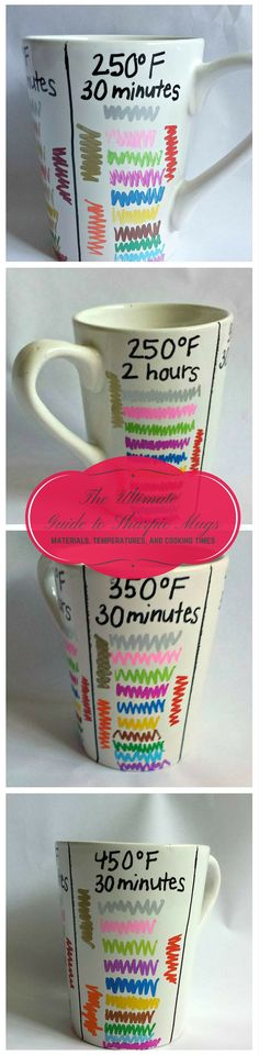 Ultimate Guide to Sharpie Mugs The BEST way to make a Sharpie mug: set the paint for little to no chipping and keep its vibrant color.The BEST way to make a Sharpie mug: set the paint for little to no chipping and keep its vibrant color. Sharpie Projects, Sharpie Crafts, Sharpie Art, Diy Projects To Try, Craft Projects, Sharpie Markers, Sharpies On Mugs, Oil Sharpie, Sharpie Mug Designs