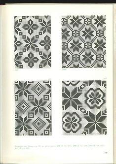 without edge ~ 24 - knitting charts Fair Isle Knitting Patterns, Knitting Charts, Weaving Patterns, Knitting Stitches, Cross Stitching, Cross Stitch Embroidery, Embroidery Patterns, Crochet Patterns, Cross Stitch Charts