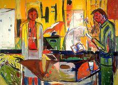 New Zealand artist Jeffrey Harris. New Zealand Art, Nz Art, Edvard Munch, Swallows, River, Bartender, Gallery, Figurative, Artwork