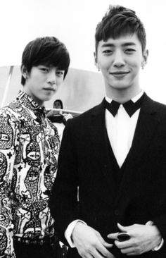 Hahahhaha i wish! Bang Yong Guk as a groom and Dae Hyun as a best man...Himchan must be angry with me kekekekekke... Beside my fangirl dream, i love Bang Yong Guk shirt here...i dont want my groom wear just plain shirt on our wedding..