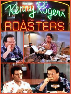 (The Chicken Roaster) - [Kramer and Newman finally try Kenny Rogers Roasters chicken and end up loving it.]
