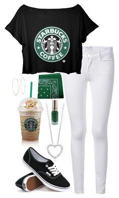 """Starbucks"" by annakilts on Polyvore"