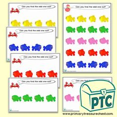 Search - Primary Treasure Chest Activity Sheets, Activity Games, Activities, Teaching Aids, Teaching Resources, Seaside Shops, The Odd Ones Out, Ourselves Topic, Math Problem Solving