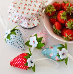 Sweet strawberries ~ by Down Grapevine Lane