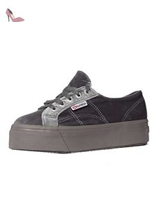 Chaussures Dame - 2790-velvetw - Grey - 40 - Chaussures superga (*Partner-Link)