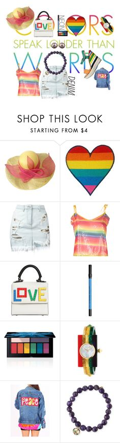 """""""P&L"""" by cinderella-slipper ❤ liked on Polyvore featuring beauty, Miss Roberta, Versus, Daizy Shely, Les Petits Joueurs, Urban Decay, Smashbox, Gucci, MDKN and Sydney Evan"""