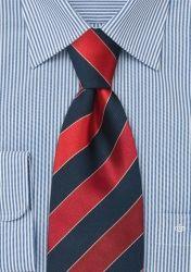 Konservative XXL-Krawatte rot/blau günstig kaufen