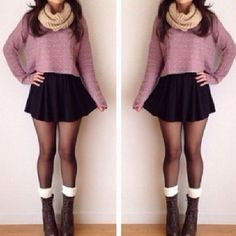 Image result for cute outfits with pleated skirts