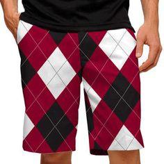 Mens South Carolina Garnet & Black Golfing Shorts by Loudmouth Golf.  Buy it @ ReadyGolf.com