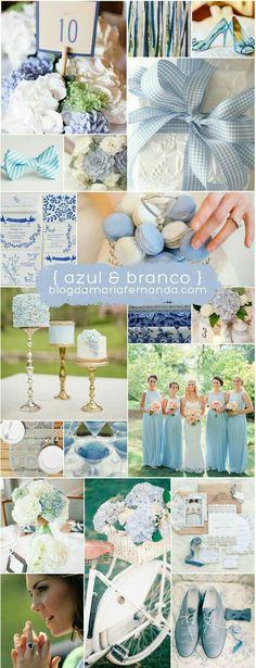 Paletas de Cores: Azul e Branco