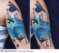25 Examples Of Artistic Watercolor Tattoos | CBK Citizen Brooklyn