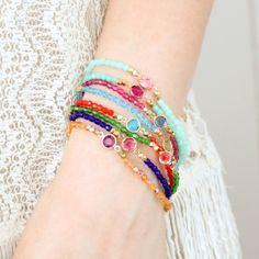 DIY Bracelets | DIY: thread & bead bracelets