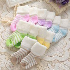 0-3Yทารกแรกเกิดลายหนาฤดูใบไม้ร่วงฤดูหนาวที่อบอุ่นฝ้ายถุงเท้าซอฟท์เด็กสาวถุงเท้าเทอร์รี่จับเจ่าเด็กถุงเ�