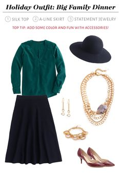 Holiday Outfit Big Family Dinner - 3 easy steps for holiday dressing